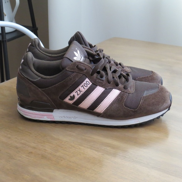 san francisco c1d06 73681 Adidas ZX 700 Original Sneakers 9.5 Brown Pink